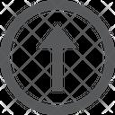 Arrow Up Button Icon