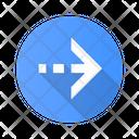 Arrow Dotted Dash Icon