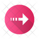 Dotted Arrow Line Icon