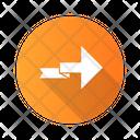 Arrow Folding Point Icon