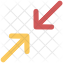 Arrows Resize Condense Icon