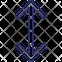 Arrows Expanding Arrows Up Arrow Icon