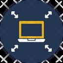 Arrows Combination Laptop Icon