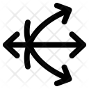Crossed Directions Mix Icon