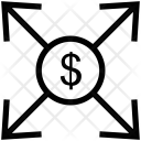 Arrows Expand Dollar Icon