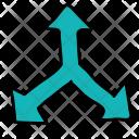 Splitting Directions Arrows Icon