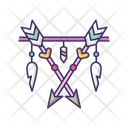 Arrows And Teeth Amulet Icon