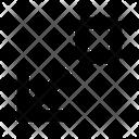 Arrows Expand Down Leftarrow Icon