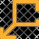 Arrows Square Down Left Icon