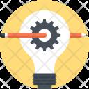 Art Bulb Cogwheel Icon