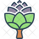 Artichoke Flower Buds Green Icon