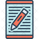 Article Writing Document Icon