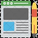 Article Writing Creative Icon