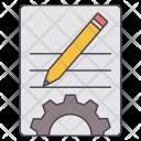 Setting Pencil Gear Icon