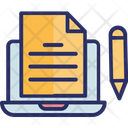 Article Writing Blogging Content Writing Icon