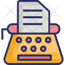 Article Writing Blog Content Development Icon
