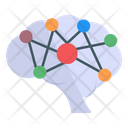 Neural Network Brain Network Digital Brain Icon