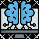 Brain Computor Artificial Icon