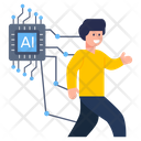 Artificial Human Artificial Person Artificial Man Icon