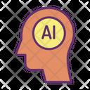 Ihuman Ai Artificial Human Mind Artificial Human Brain Icon