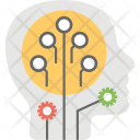 Artificial Intelligence Computer Icon