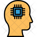 Artificial Intelligence Machine Intelligence Microchip Inside Brain Icon