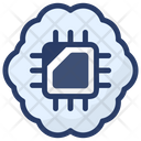 Neural Network Artificial Intelligence Machine Learning Icon
