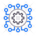 Cogwheel Artificial Intelligence Icon