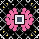Artificial Intelligence Brain Processor Icon