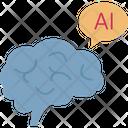 Artificial Intelligence Brain Robotics Icon