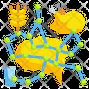 Artificial Intelligence Vegetarian Chicken Icon