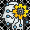 Artificial Intelligence Brainstorm Smart Brain Icon