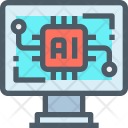 Artificial Intelligence Circuit Icon