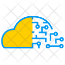 Artificial Intelligence On Cloud Cloud Ai Icon