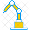 Artificial Intelligence On Factory Robot Factory Icon