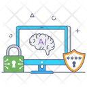 Artificial Intelligence Security Icon