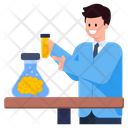 Chemical Lab Artificial Lab Brain Experiment Icon
