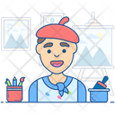 Artist Painter Calciminer Icon