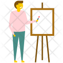 Male Artist Canvas Icon