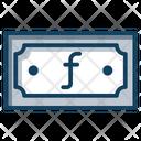 Aruban Florin Florin Currency Paper Money Icon