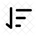 Ascend Sort List Icon