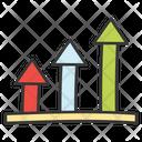Ascending Arrow Upward Arrow Arrow Symbol Icon