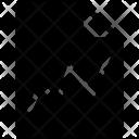 Ascending line Icon