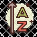 Ascending Order Letters Alphabet Icon