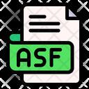 Asf File Type File Format Icon