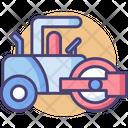 Ashpalt Paver Road Roller Roller Icon