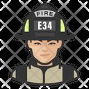 Asian Female Firefighter Female Firefighter Asian Icon