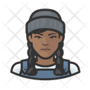 Asian Female Fisher Icon