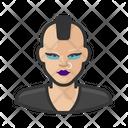 Punk Asian Female Icon