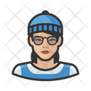 Asian Hipster Woman Asian Copy Hipster Icon